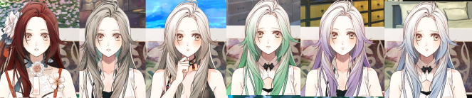 Olympia hair colors